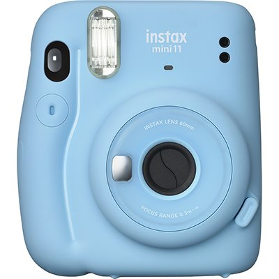 Câmera instantânea Instax min i11 azul Fuji Film PT 1 UN