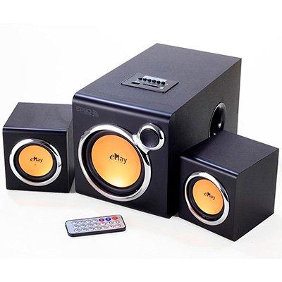 Caixa de Som EP30 2.1 30 Watts RMS com entrada P2, Conexão Bluetooth e entrada USB e Cartão SD - ePlay CX 1 UN