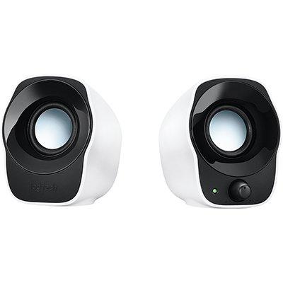 Caixa de som Multimidia Logitech Z120 com Sistema 2.0 e conexão 3,5mm - Branco CX 1 UN