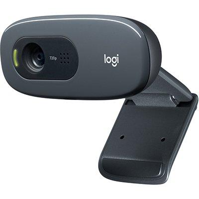 Webcam Logitech C270, HD 720p com Microfone Embutido e 3 MP para Chamadas e Gravações em Vídeo Widescreen CX 1 UN