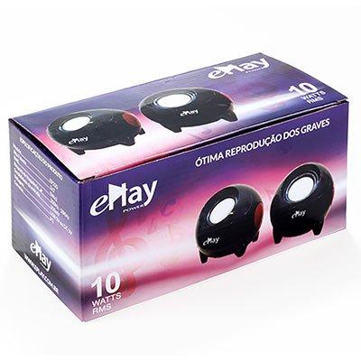 Caixa de som 10w rms P2 EP320 ePlay CX 1 UN