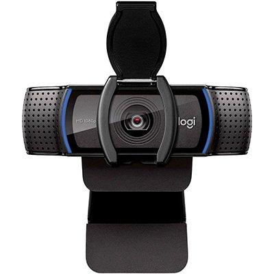 Webcam Full HD Logitech C920s com Microfone e Proteção de Privacidade para Gravações em 1080p Widescreen, Compatível com Logitech Capture CX 1 UN