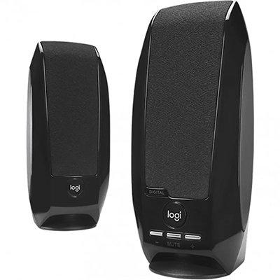 Caixa de som Multimidia Logitech S-150 com Sistema 2.0 e conexão 3,5mm - Preto CX 1 UN