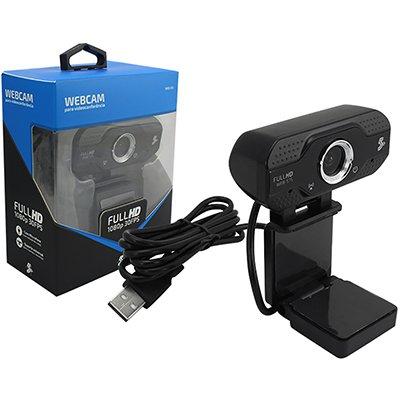 Câmera webcam Full HD 1080p 30FPS 015-0075 5+ PT 1 UN