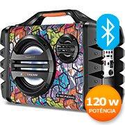 Caixa de som recarregável 120w rms Bluetooth MCO-06 Mondial CX 1 UN