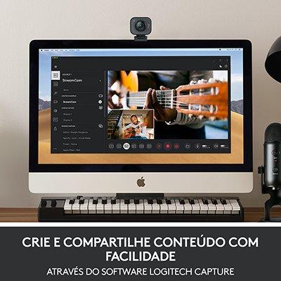 Webcam Full HD StreamCam Plus - Logitech CX 1 UN