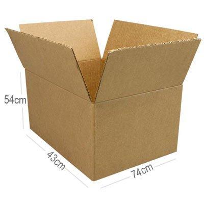 Caixa papelão transporte/mudança C74xL43xA54 (Cores sortidas) Westrock PT 1 UN
