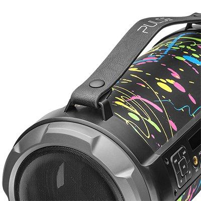 Caixa de som pulse bazooka 120w preta SP362 Pulse CX 1 UN