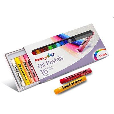 Giz de Cera, Pastel Oleoso Com 16 Cores, PHN-16 - Pentel CX 1 UN