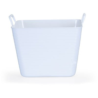 Cesto plástico 32,5x36,5x27,4cm branco 1589 ARTHI   PT 1 UN