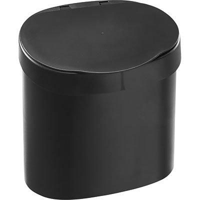Lixeira plástica c/tampa 4L preta 10902 Coza PT 1 UN