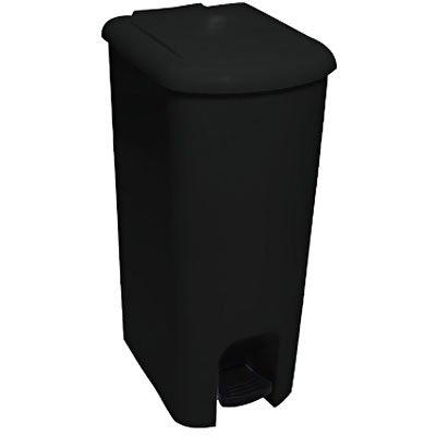 Lixeira plástica c/pedal preta 25L Só Lixeiras CX 1 UN