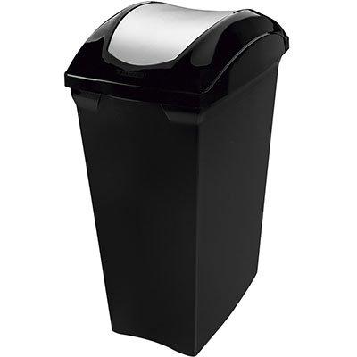 Lixeira plástica basculante 15L preta SR62 Sanremo PT 1 UN