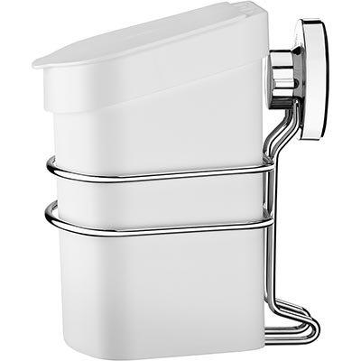 Lixeira plástica branca c/tampa 2,5L (+Suporte c/ ventosa) 4022BC Future PT 1 UN