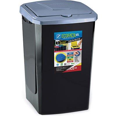 Lixeira plástica c/tampa automática 40L 5073 ARTHI   PT 1 UN