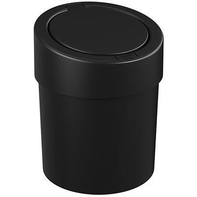 Lixeira plástica c/tampa 5L Press preta 10908 Coza CX 1 UN