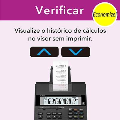 Calculadora de mesa c/bobina 12 digitos HR150RCBDC Casio CX 1 UN