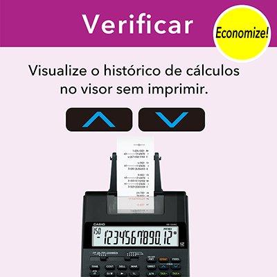 Calculadora de mesa c/ bobina 12 digitos HR100RCBKB Casio Brasil CX 1 UN