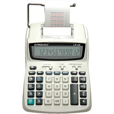 Calculadora de mesa c/bobina 12 digitos LP25 Procalc CX 1 UN