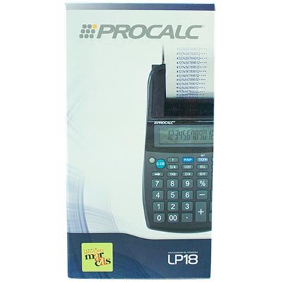 Calculadora de mesa c/bobina 12 digitos LP18 Procalc CX 1 UN