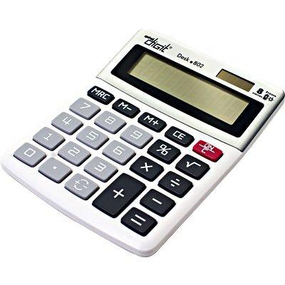 Calculadora de mesa (bat/solar/8 digitos) cinza 802 Spiral Digit CX 1 UN