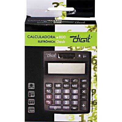 Calculadora de mesa (bat/solar/8 dígitos) preto 800 Spiral Digit CX 1 UN