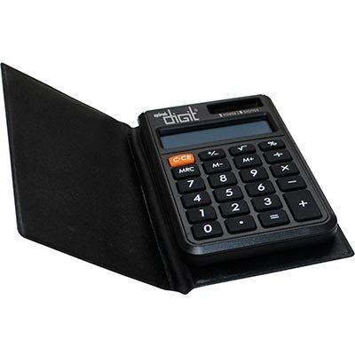 Calculadora de bolso (bat/solar/8 dígitos) 801 Spiral Digit  BT 1 UN