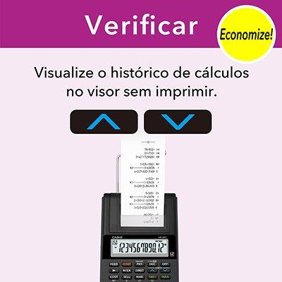 Calculadora de mesa c/bobina 12 digitos preta HR8RCBKBDC Casio CX 1 UN