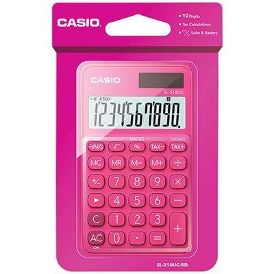 Calculadora de bolso (bat/solar/10 dígitos) rosa SL-310UC Casio CX 1 UN