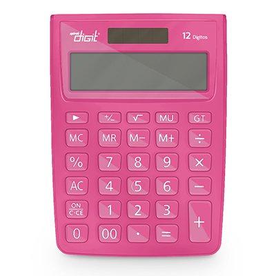 Calculadora de mesa (bat/solar/12 dig.) rosa 1238 Spiral Digit PT 1 UN