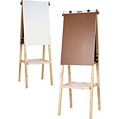 Cavalete flip-chart c/quadro branco e bandeja Stalo CX 1 UN