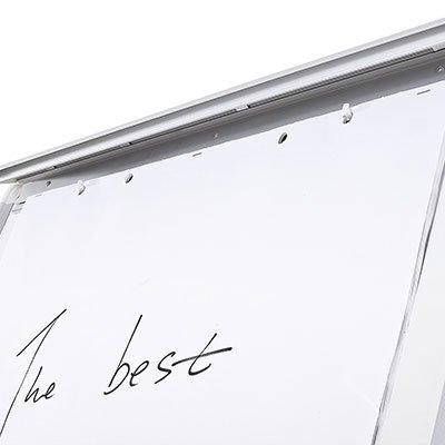 Cavalete flip-chart c/ quadro branco magnético giratório Cortiarte PT 1 UN