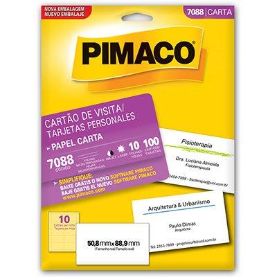 Cartão visita microserrilhado fosco 874900 Pimaco PT 100 UN