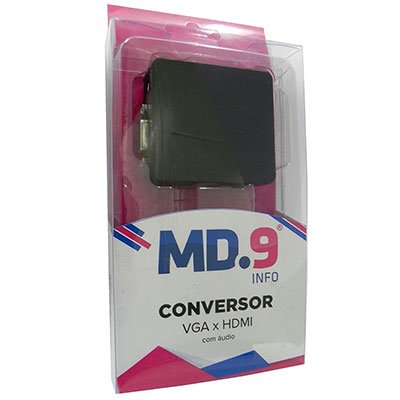 Adaptador de video VGA para HDMI mini conversor Md9 PT 1 UN
