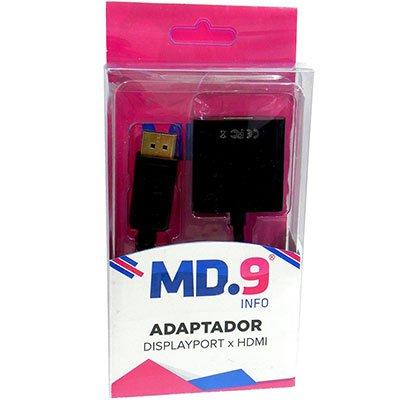 Adaptador de video Displayport M para HDMI Md9 PT 1 UN