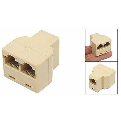 Conector adaptador T RJ45 c/ 3 conexões 270393 Multi PT 1 UN
