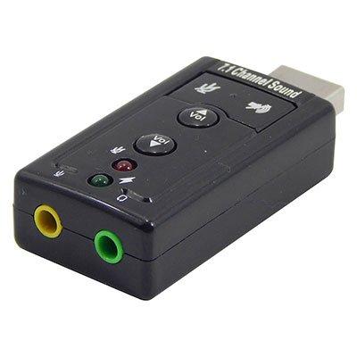 Placa de som USB 7.1 DirectSound 3D (fone e microfone) Md9 PT 1 UN