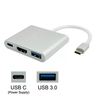 Adaptador de video Tipo-C para HDMI c/USB3.0 e USB-C Md9 CX 1 UN