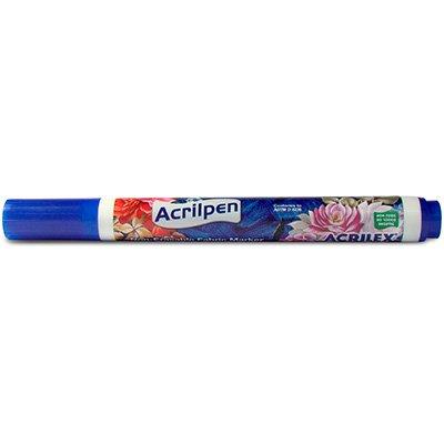 Caneta para tecido Acrilpen azul turquesa 04406.0501 Acrilex BT 1 UN