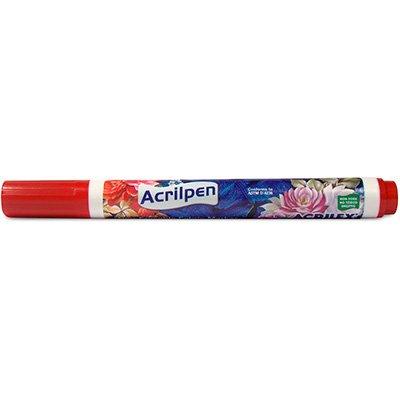 Caneta para tecido Acrilpen vermelho fogo 04406.0507 Acrilex PT 1 UN