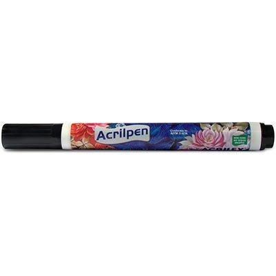 Caneta para tecido Acrilpen preta 520 Acrilex BT 1 UN