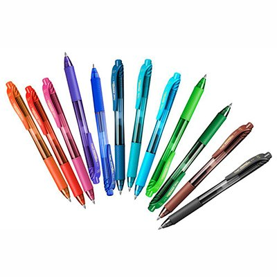 Caneta Gel Energel 0,7mm Preta, Vermelha e Azul, SM-BL107-ABCN6 - Pentel BT 3 UN