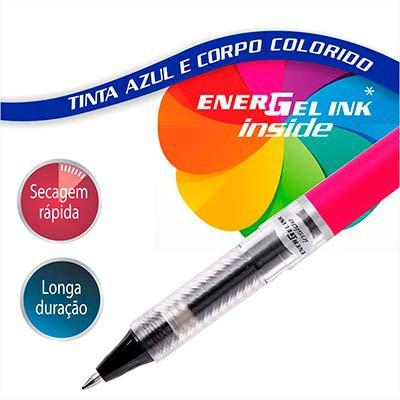Caneta Gel Tradio 0,7mm Tinta Azul e Corpo Pink, SM-BL117FP-C16 - Pentel BT 1 UN