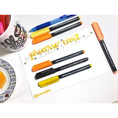 Caneta pincel Brush Pen blender 20 cores 17.039 Newpen BT 1 UN