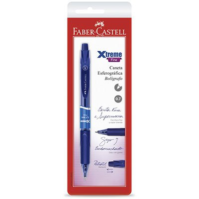 Caneta esferográfica 0.7mm Xtreme azul SMXTRT07AZ Faber Castell BT 1 UN