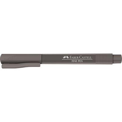 Caneta hidrográfica Fine Pen 0,4mm cinza FPBCZZF Faber Castell  PT 1 UN