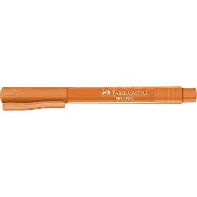 Caneta hidrográfica Fine Pen 0,4mm laranja FPBLAZF Faber Castell  PT 1 UN