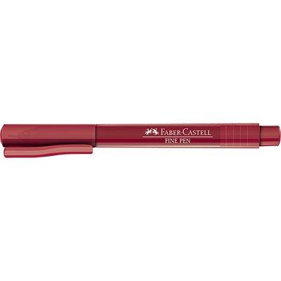 Caneta hidrográfica Fine Pen 0,4mm vermelho FPBVMZF Faber Castell  PT 1 UN
