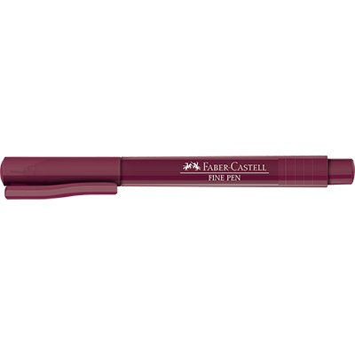 Caneta hidrográfica Fine Pen 0,4mm vinho FPBVNZF Faber Castell PT 1 UN