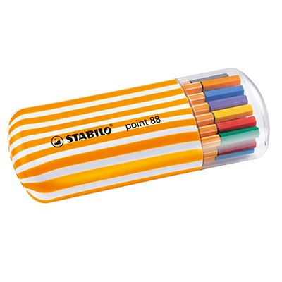 Caneta hidrográfica 20 cores 0,4mm Point 8820/2 Stabilo BT 20 UN